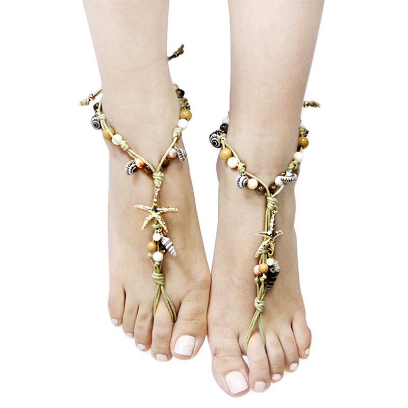 Starfish Toe Anklet - Jewelry Buzz Box  - 2