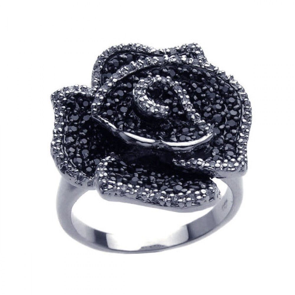 Black Rose Ring - Jewelry Buzz Box