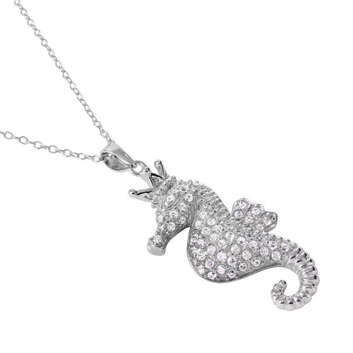 Crown Sea Horse Necklace - Jewelry Buzz Box
