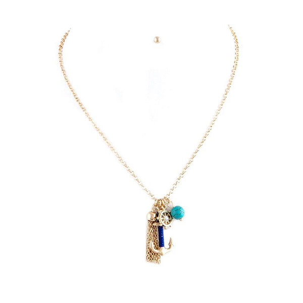 Anchorwoman Necklace Set - Jewelry Buzz Box  - 1