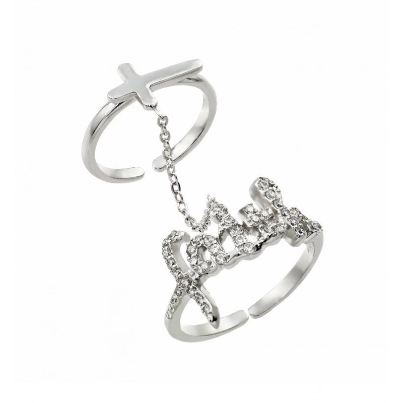 Faith Cross Knuckle Ring - Jewelry Buzz Box