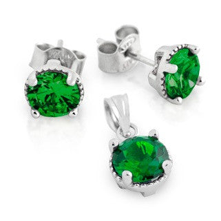 Emerald Green BirthStone Earring - Jewelry Buzz Box  - 1