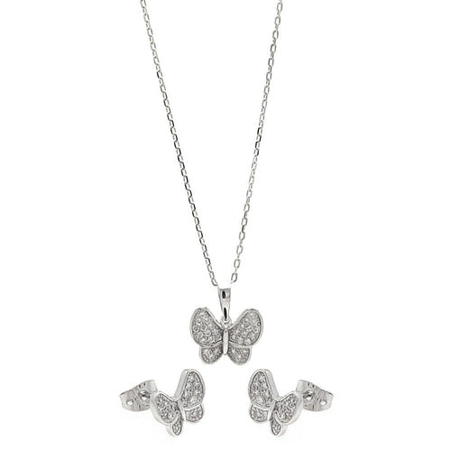 Flutter Necklace and Earring Set - Jewelry Buzz Box