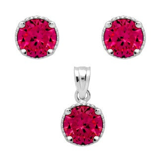 Ruby Bithstone Earring - Jewelry Buzz Box  - 1