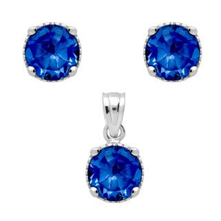 Sapphire Blue Earring - Jewelry Buzz Box  - 2
