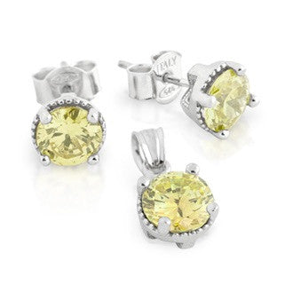Citrine Yellow Birthstone Earring - Jewelry Buzz Box  - 1