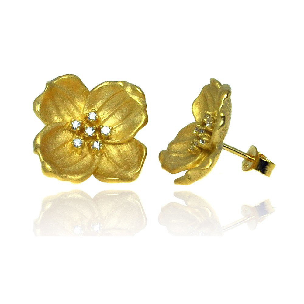 Gardenia Earrings - Jewelry Buzz Box