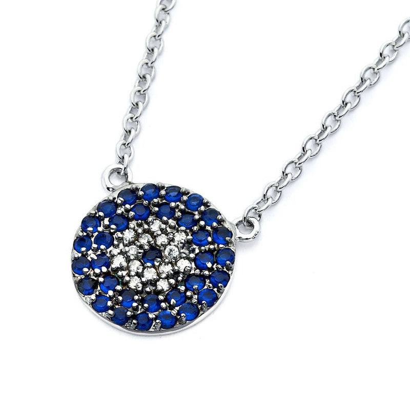 Deep Blue Eye Necklace - Jewelry Buzz Box