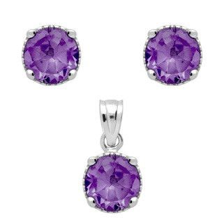 Amethyst Birthstone Set - Jewelry Buzz Box  - 1