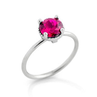 July Ruby Birthstone Ring - Jewelry Buzz Box  - 1