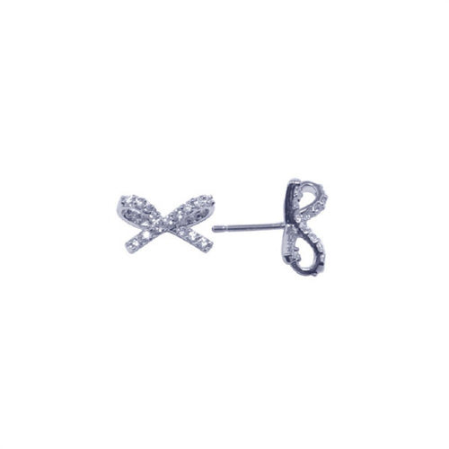 Ribbon Stud Earrings - Jewelry Buzz Box