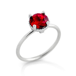 January Garnet Birthstone Ring - Jewelry Buzz Box