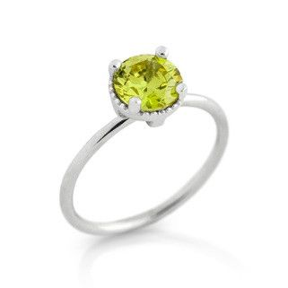 August Light Green Birthstone Ring - Jewelry Buzz Box  - 1