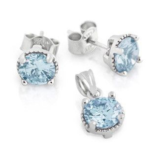Aquamarine Birthstone Set - Jewelry Buzz Box  - 1