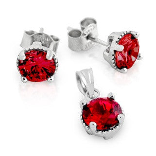Garnet Birthstone Earring - Jewelry Buzz Box  - 1