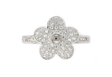 Pretty Pave Flower Ring - Jewelry Buzz Box  - 2