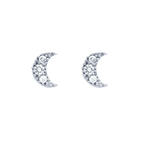 Moon Stud Earrings - Jewelry Buzz Box  - 1