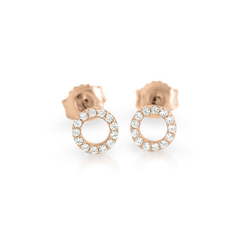 Open Circle Studs - Jewelry Buzz Box  - 2