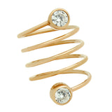 Circle Bezel Spiral Ring - Jewelry Buzz Box  - 2