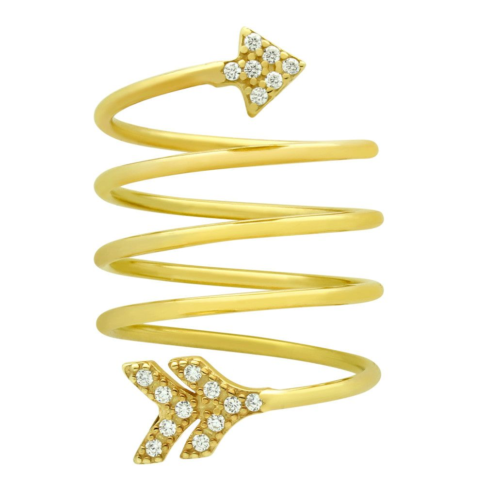 Arrow Spiral Ring - Jewelry Buzz Box  - 3