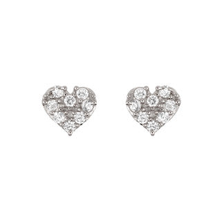 Cute Heart Stud Earrings - Jewelry Buzz Box  - 1