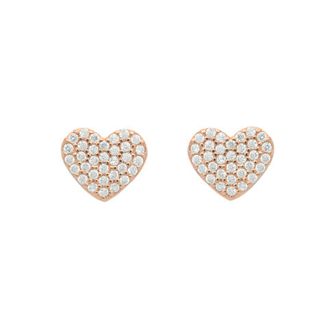 Honey Heart Stud Earrings - Jewelry Buzz Box  - 1