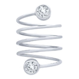 Circle Bezel Spiral Ring - Jewelry Buzz Box  - 3