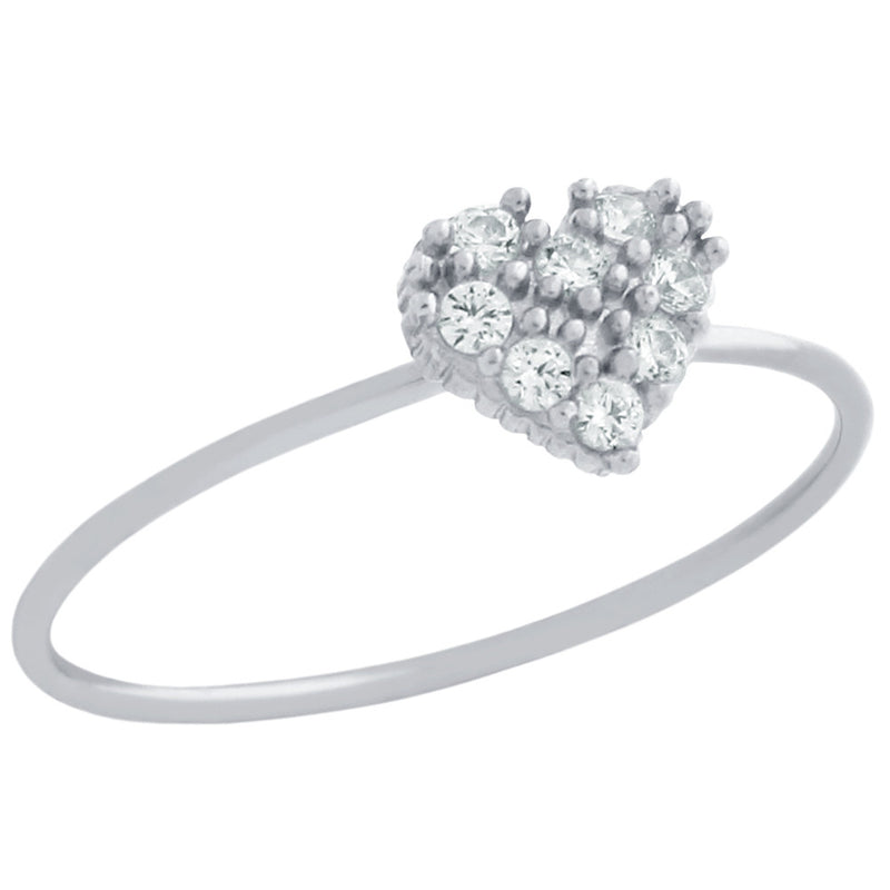 Cute Heart Stackable Ring - Jewelry Buzz Box  - 5
