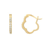 Fancy Flower Hoop Earrings - Jewelry Buzz Box  - 2