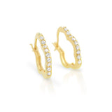 Fancy Flower Hoop Earrings - Jewelry Buzz Box  - 1