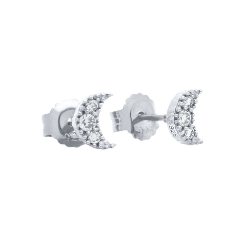 Moon Stud Earrings - Jewelry Buzz Box  - 2