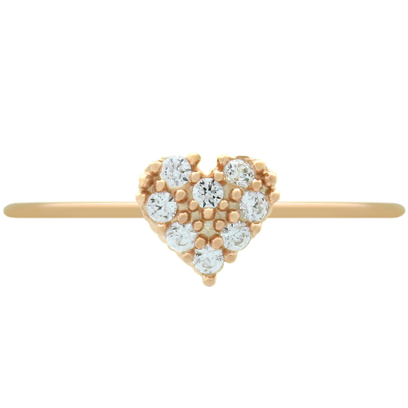 Cute Heart Stackable Ring - Jewelry Buzz Box  - 1