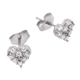 Cute Heart Stud Earrings - Jewelry Buzz Box  - 4
