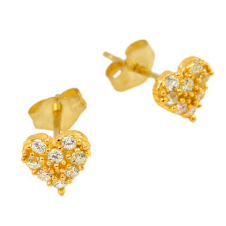 Cute Heart Stud Earrings - Jewelry Buzz Box  - 5