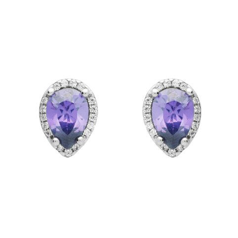 Brilliance Teardrop Stud Earrings - Jewelry Buzz Box  - 1