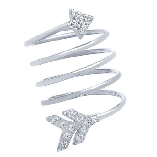 Arrow Spiral Ring - Jewelry Buzz Box  - 1