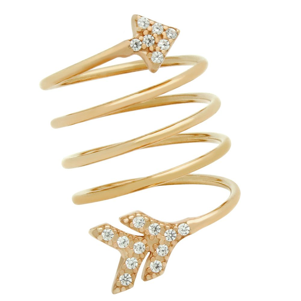 Arrow Spiral Ring - Jewelry Buzz Box  - 2