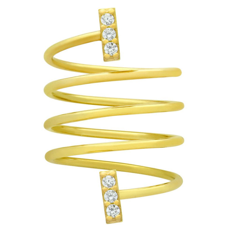 Bar Spiral Ring - Jewelry Buzz Box  - 1