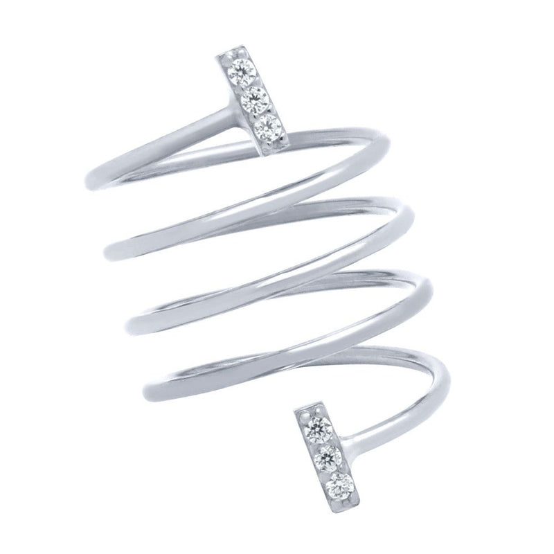 Bar Spiral Ring - Jewelry Buzz Box  - 2
