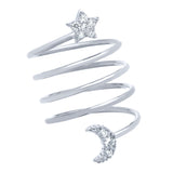 Star & Moon Spiral Ring - Jewelry Buzz Box  - 3