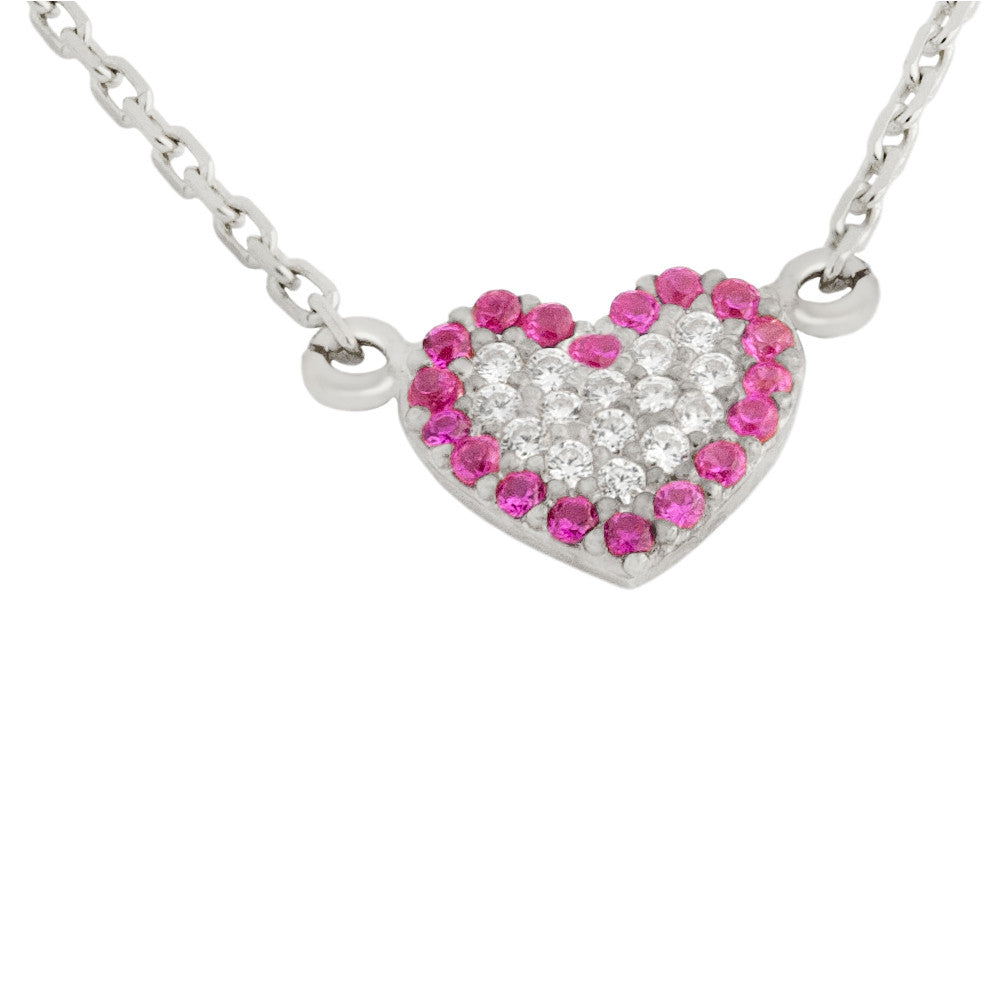 Heart Sterling Silver Necklace - Jewelry Buzz Box  - 1
