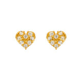 Cute Heart Stud Earrings - Jewelry Buzz Box  - 3