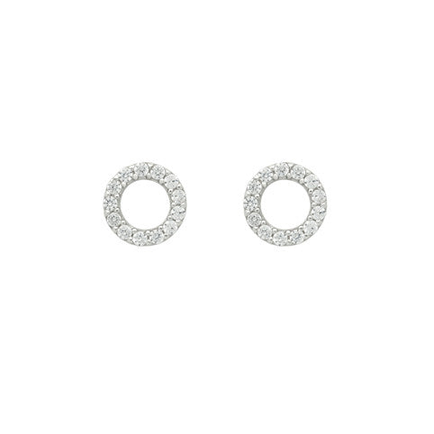 Open Circle Studs - Jewelry Buzz Box  - 3