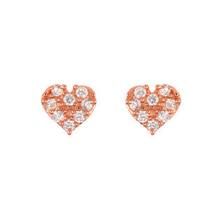 Cute Heart Stud Earrings - Jewelry Buzz Box  - 2