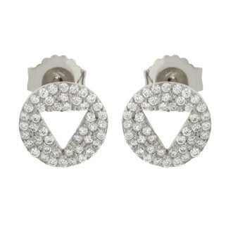 Triangle Cut-Out Earrings - Jewelry Buzz Box  - 2