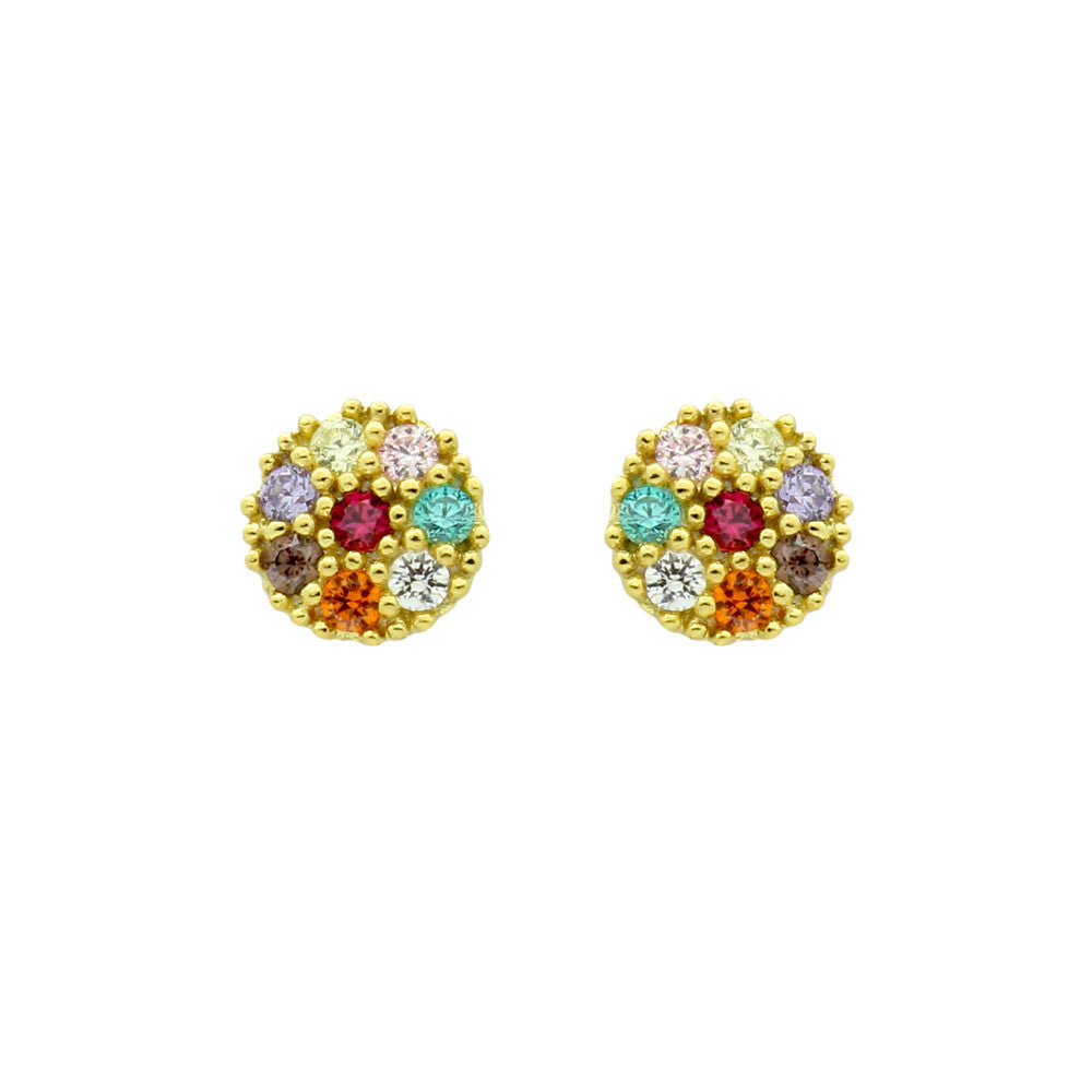 Colorful Stud Earrings - Jewelry Buzz Box  - 1