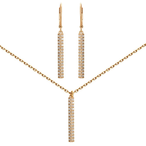 Bar Babe Necklace and Earring Set - Jewelry Buzz Box  - 1