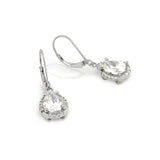 Spark Silver Teardrop Earrings - Jewelry Buzz Box  - 4