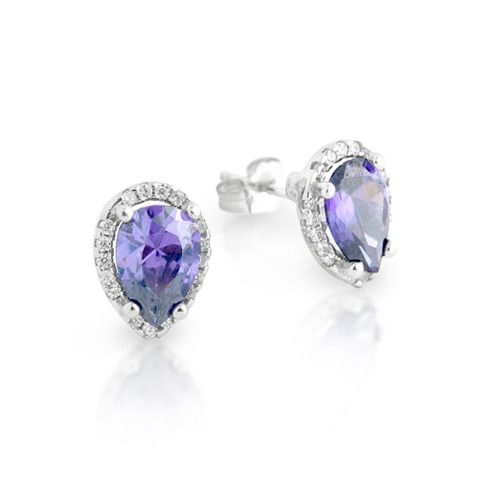Brilliance Teardrop Stud Earrings - Jewelry Buzz Box  - 2