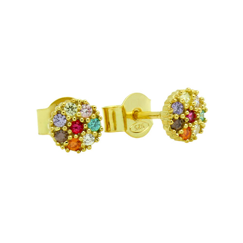 Colorful Stud Earrings - Jewelry Buzz Box  - 2